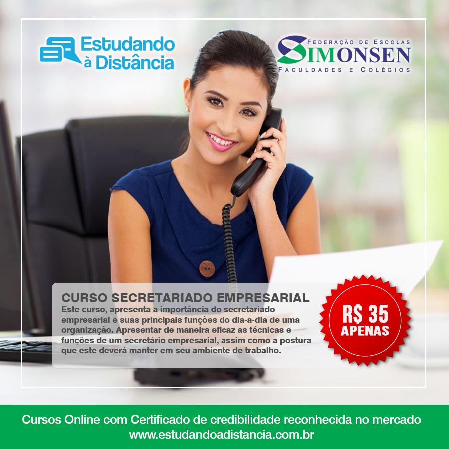 anuncio curso de secretariado empresarial