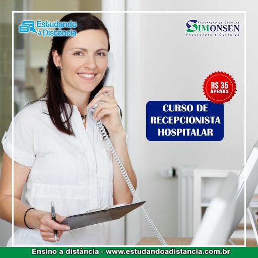 curso de recepcionista hospitalar 35 reais